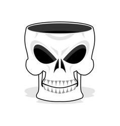 Skull jewelry box skeleton basket terrible pirate vector