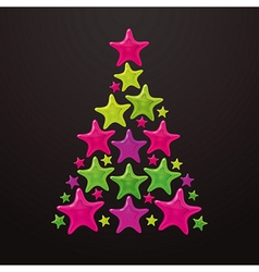 Christmas tree made of stars - vector