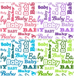 Seamless baby shower backgrounds vector