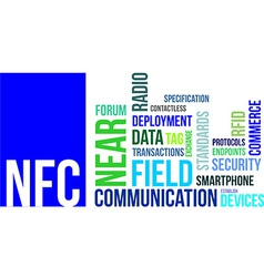 Word cloud nfc vector