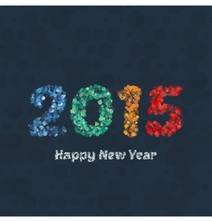 Creative colorful circle pattern happy new year vector