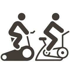 Indoor cycling icons vector