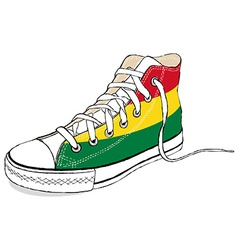 Hand draw modern sport shoes with bolivia flag vector