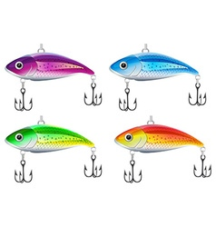 Set of fishing lures vector