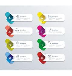 Options progress banners with colorful tags vector