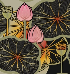 lotus2 vector image