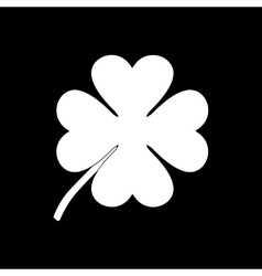 The clover with four leaves icon Saint Patrick vector image