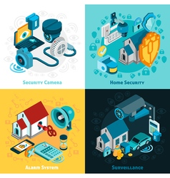 Security system concept icons set vector