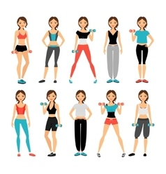 Women in sportswear vector