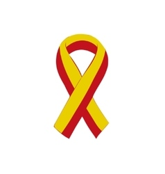 World hepatitis day 28 july yellow red ribbon vector