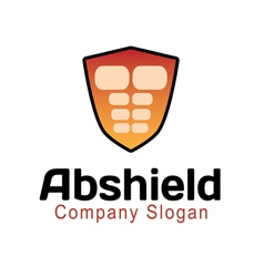 Abs shield design vector