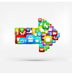 Application buttonSocial mediaCloud computing vector image vector image