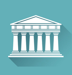 architecture greek temple icon vector image