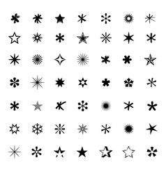 Big set of black stars vector