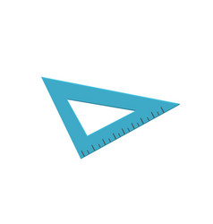 blue triangle ruler measuring tool cartoon vector image