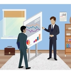 Business report isometric vector