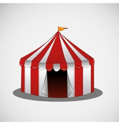 Circus tent on a bright background vector
