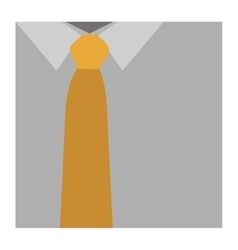 Color silhouette with shirt and yellow tie close vector