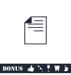 Document icon flat vector image vector image