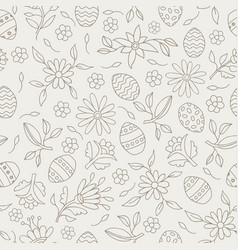 easter elements seamless flower pattern background vector image vector image