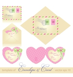 envelope and greeting card vector image vector image