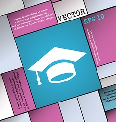 Graduation icon sign Modern flat style for your vector image