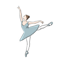 hand drawn ballerina icon vector image vector image