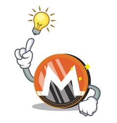 Have an idea monero coin character cartoon vector