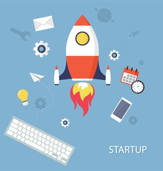 Project startup vector