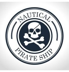 Skull and bones symbol pirate vector