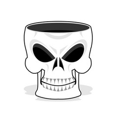 Skull jewelry box skeleton basket terrible pirate vector