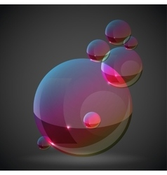 Soap bubble on black background vector