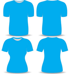 T shirt blue template vector image
