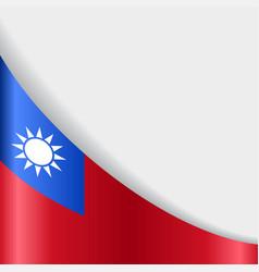 Taiwan flag background vector