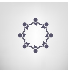Teamwork helping icon vector image