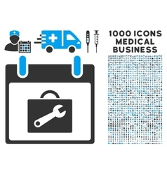 Toolbox calendar day icon with 1000 medical vector