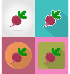 Vegetables flat icons 16 vector