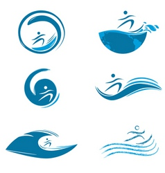 water sports vector image vector image