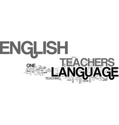 What are the requirements for english language vector