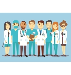 Hospital medical staff team doctors nurses surgeon vector