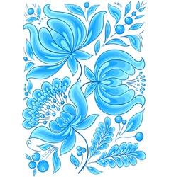 Hand-drawn floral background with flowers cool vector