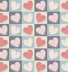 Seamless pattern with stylish hearts vector image