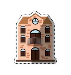big house real estate vector image