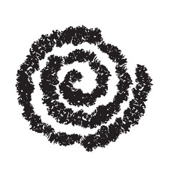 Hand painted spiral isolated on white vector