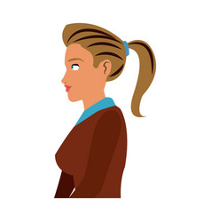portrait character woman business worker vector image