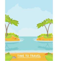 Summer vacation holiday tropical ocean islands vector