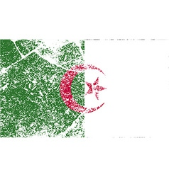 Flag of algeria with old texture vector