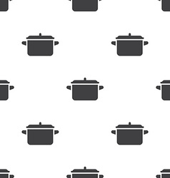 Pot seamless pattern vector