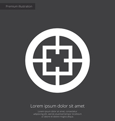 Optical sight premium icon vector
