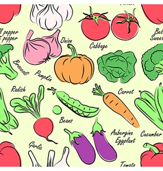 Vegetables seamless vector